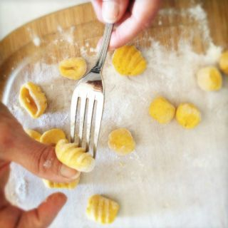 pumpkin ricotta gnocchi by the chiappas . Yummy!!! And it so much ...