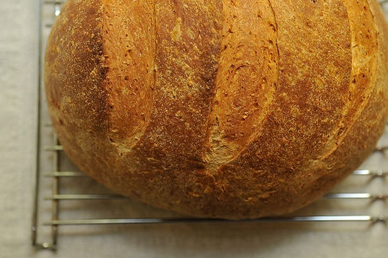 loaf of bread. The dough would make a perfect Pullman (sandwich) loaf ...