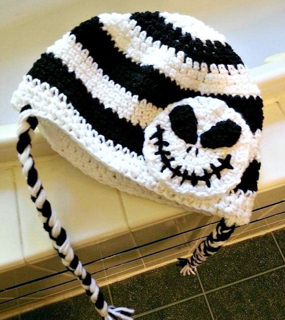 Custom Crochet Jack Skellington Hat inspired by The by SpearCraft