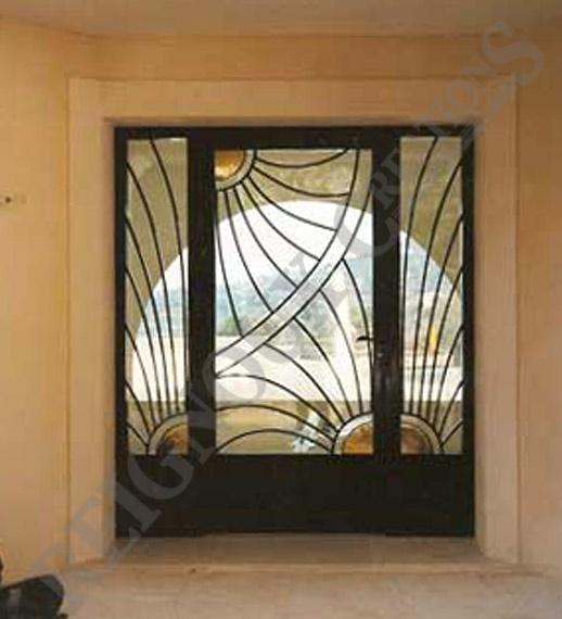 Porte d 39 entr e exterieur en fer forg porte pinterest for Porte entree exterieur