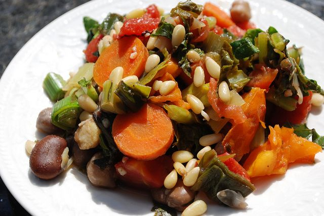 ... Garbanzo Beans, Fava Beans, and Pine Nuts by wakingupvegan, via F