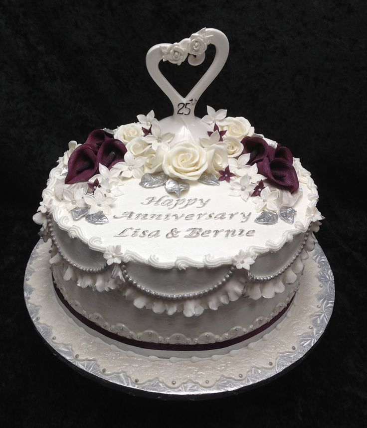 Cake Design For 25th Anniversary : 25th Anniversary Cake cakes Pinterest