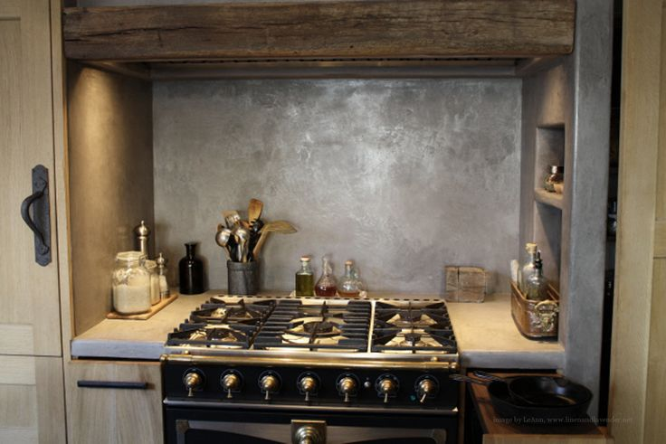 "linenandlavender.net :  LaCornue range at center of cooking area, concealed 60"" w professional vent system - 33"" d pull-outs on sides of range hold pots and pans - from our digital magazine - Volume No. 01 ~ Issue 03 http://glossi.com/linenlavender/28349-linenandlavendernet-volume-no-01-issue-03"