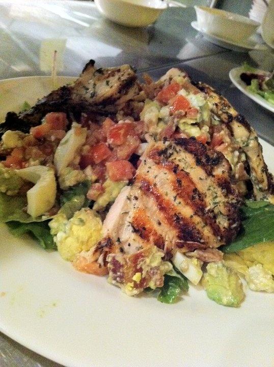 Grilled Chicken Cobb Salad (avocado, plum tomato, hickory smoked bacon ...