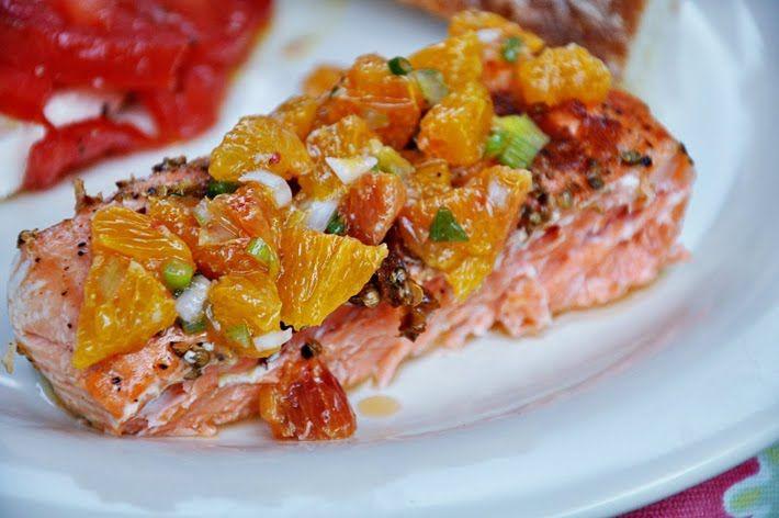 Grilled Salmon with Blood Orange Salsa | Main Dish Recipes | Pinterest