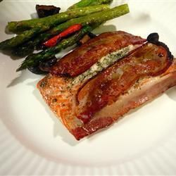 Baked Bacon Topped Salmon @ allrecipes.co.uk