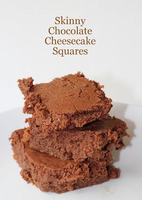 Skinny Chocolate Cheesecake Squares | A Spoon Full of Sugar | Pintere ...