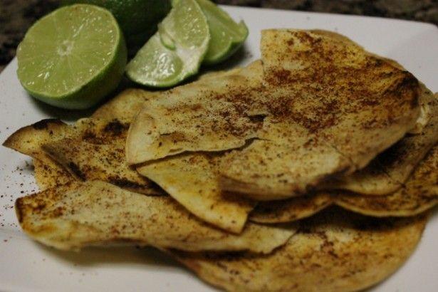 Homemade lime chips (themarathonmom.com) | Tasty | Pinterest