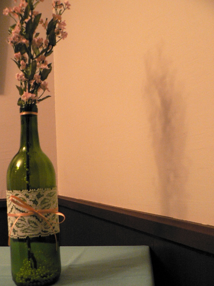 Wine bottle decoration crafty pinterest for Bottle decoration