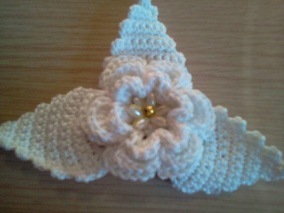 Crochet Hair For Wedding : Bridal Crochet Head Piece - Wedding Hair Accessories -Bridal Crochet ...