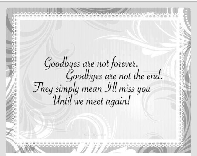 till we meet again meaning of life