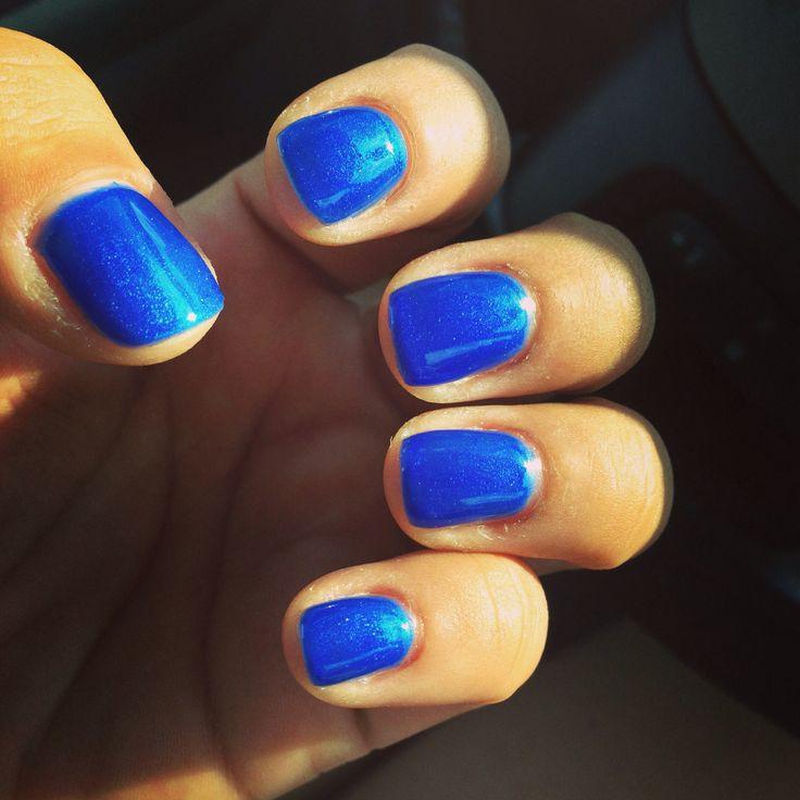 Shellac nails Color: Blue Haven | Shellac | Pinterest