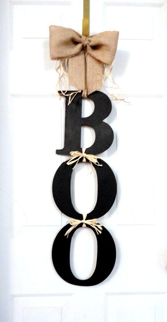 BOO - Halloween Wreath