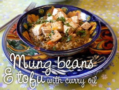 Mung beans and tofu | Ayurveda Recipes | Pinterest