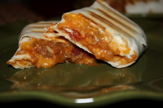 ... , refried beans, spanish rice, salsa, shredded cheese, tortillas