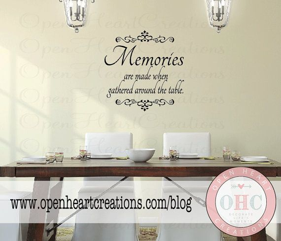 Dining rooms quotes like success for Dining room quote decals