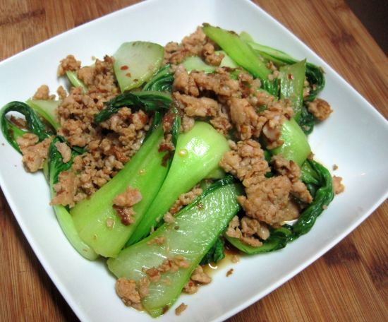 Chicken Sausage and Baby Bok Choy - | Asian and Indian | Pinterest