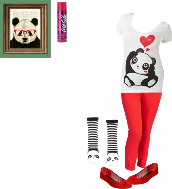 Plus Sized Panda Love by prettyroses liked on Polyvore