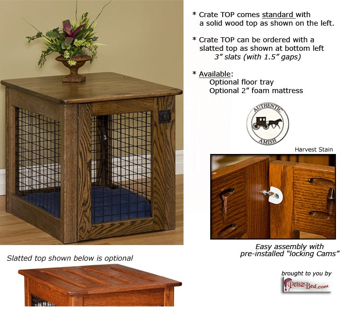 Wooden dog crate with wire panels | Dog & Cat Home Decor` | Pinterest