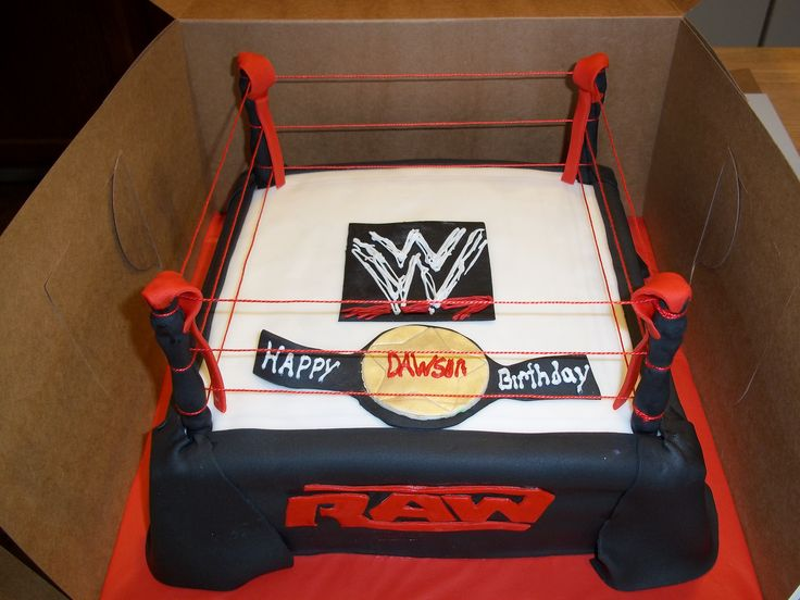 Wwe Ring Birthday Cake
