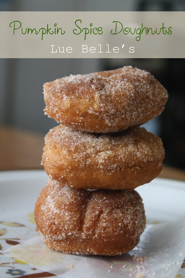 Pumpkin spice doughnuts | Recipes/Sweet Treats | Pinterest