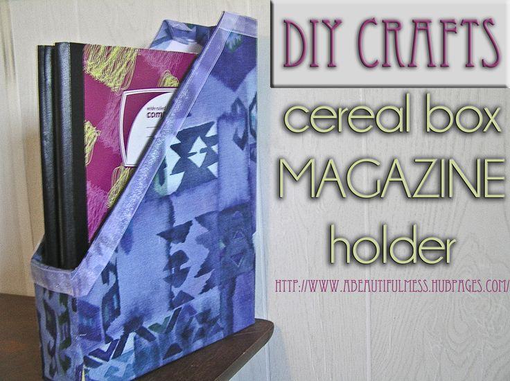 Diy crafts cereal box magazine holder for Diy cereal box