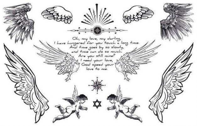 Татуировка под крылом ангела