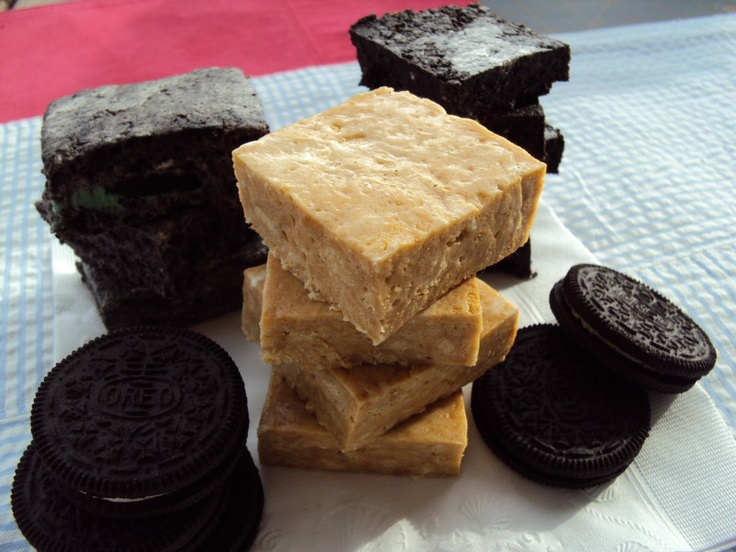 Chewy Oreo & Nutter Butter Bars- no-bake bars that you can make using ...