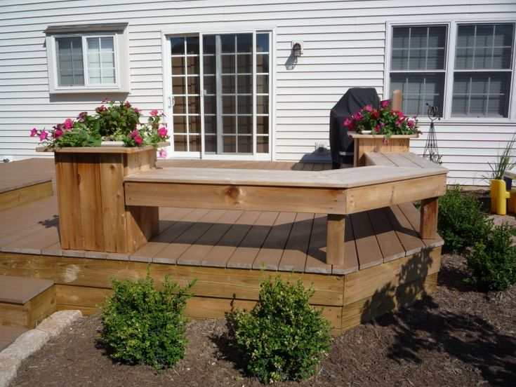 Deck Benches With Planters 28 Images Build Deck Planter Bench Woodworking Projects Plans