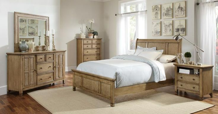 Rattan Coastal Styled Bedroom Furniture Sales in Columbia, SC