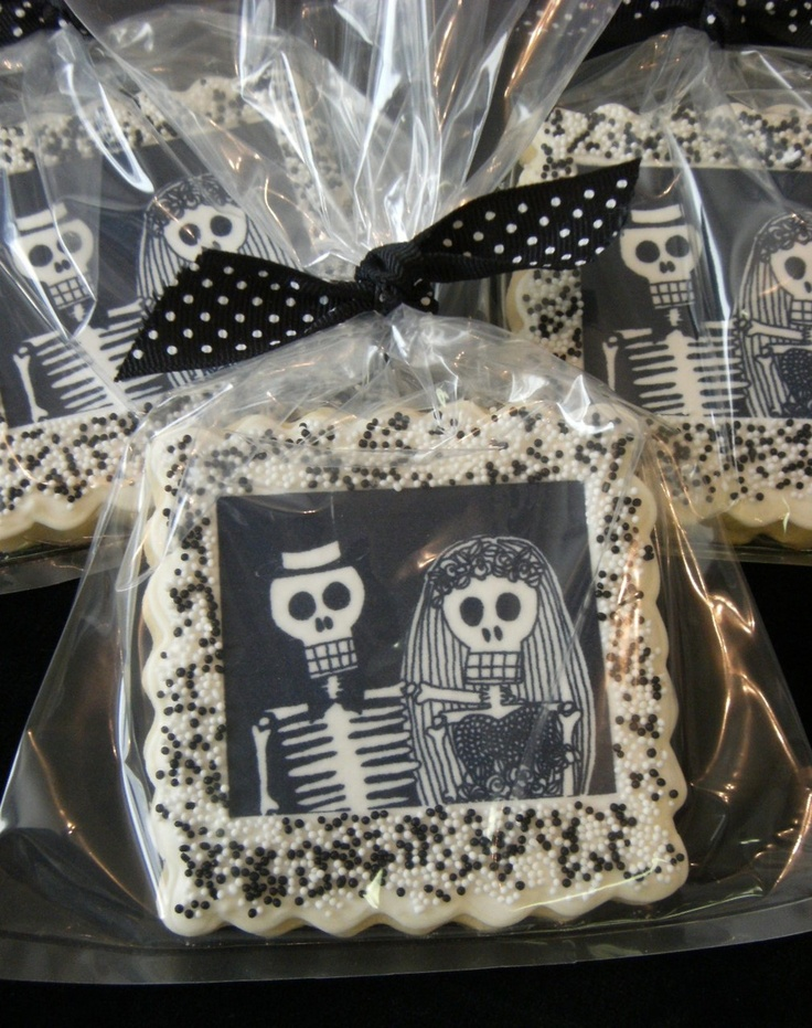 dia de los muertos wedding cookie #cookie #diadelosmuertos #wedding
