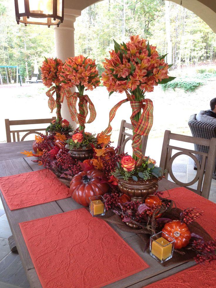 Fall Tablescape Autumn Pinterest