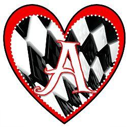 S Alphabet Letter In Heart Heart Printable Alphabet Letters | Alice in Wonderland | Pinterest