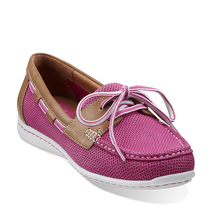 Cliffrose Sail in Fuschia Leather & Nubuck - Womens Shoes from Clarks
