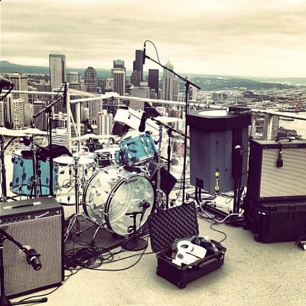 Mudhoney atop the space needle http kexp org live broadcast on