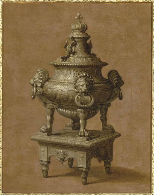 Beaudrin Yvart (1611-1680) - Cassolette en argent du mobilier de Louis XIV – Musée National du Château de Versailles
