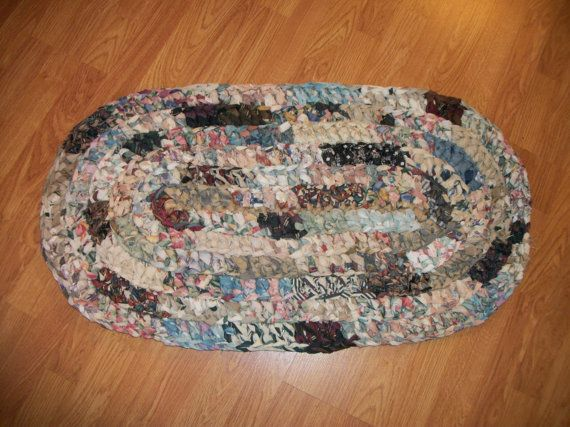 Country Primitive Crochet Rag Rug by AnLDesign on Etsy, $35.00