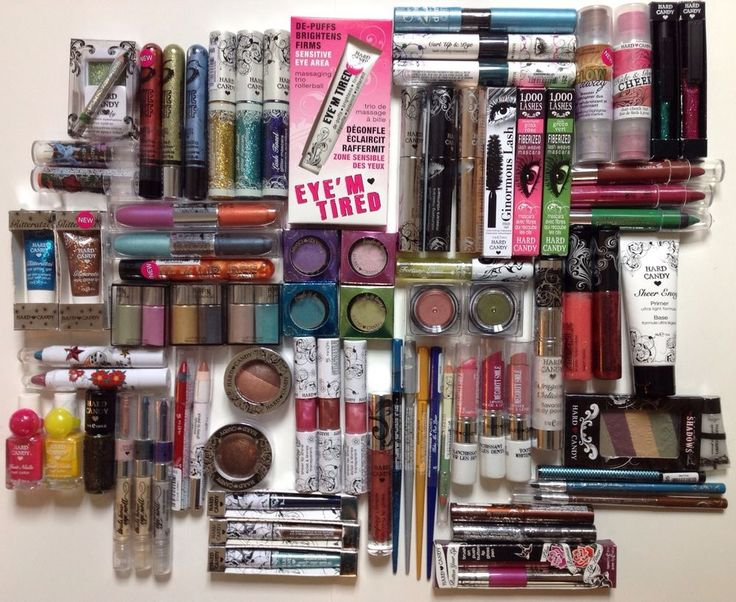 Lot of 100 ~ Hard Candy Assorted Makeup Lot w/New Items - Hard Candy Makeup
