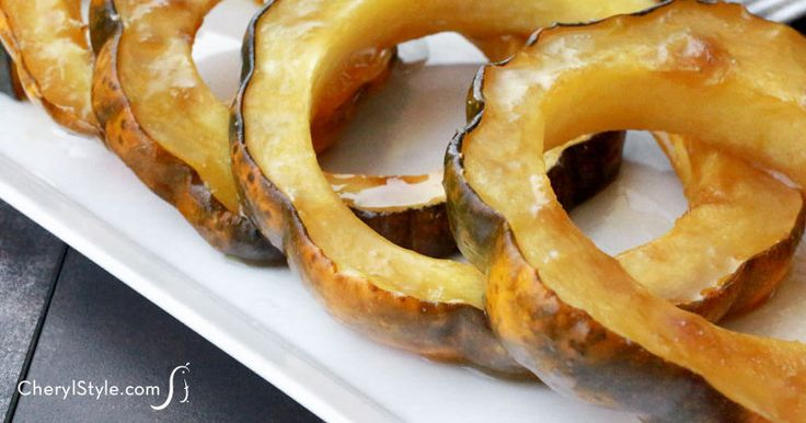 Roasted acorn squash with brown sugar - CherylStyle