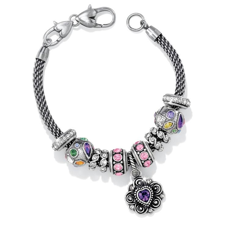 brighton birthstone charm bracelet jewelry