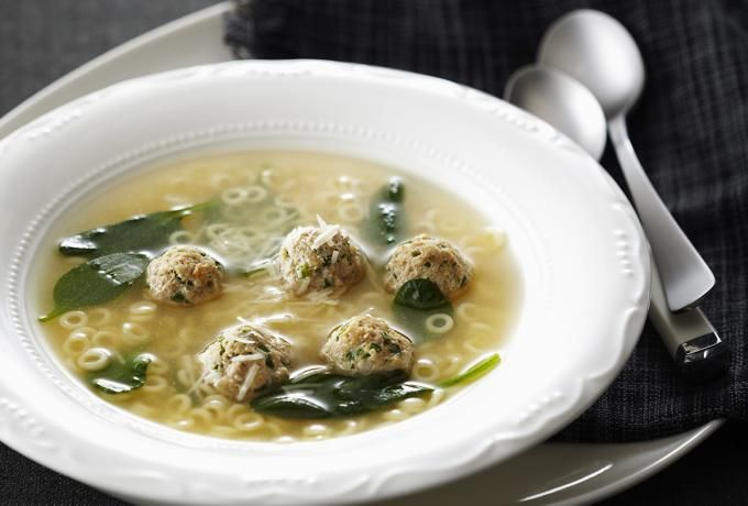 Recipes - Italian Wedding Soup with Chicken Meatballs » Chicken.ca