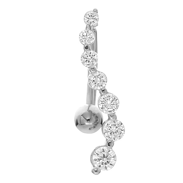 white gold belly button rings white gold
