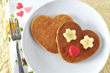 Sweet Potato Pie Pancakes for Valentine's Day