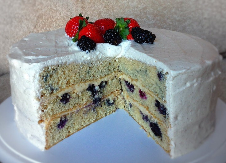Cornmeal Cake With Blueberries And Maple Whipped Cream Recipes ...