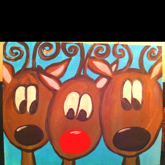 You can even say it glows no l pinterest for Easy christmas paintings on canvas
