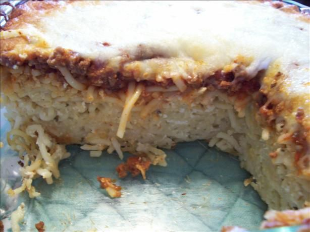 Baked Spaghetti Pie from Food.com: I found this recipe off of Recipe ...