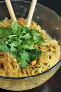 """Spicy """"Noodle"""" bowl with Peanuts and Cilantro"""