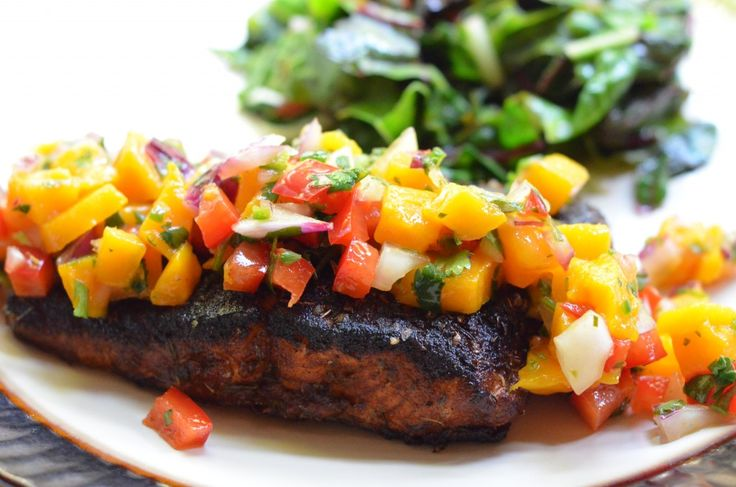 Blackened Salmon with Mango Salsa | Health Nut | Pinterest