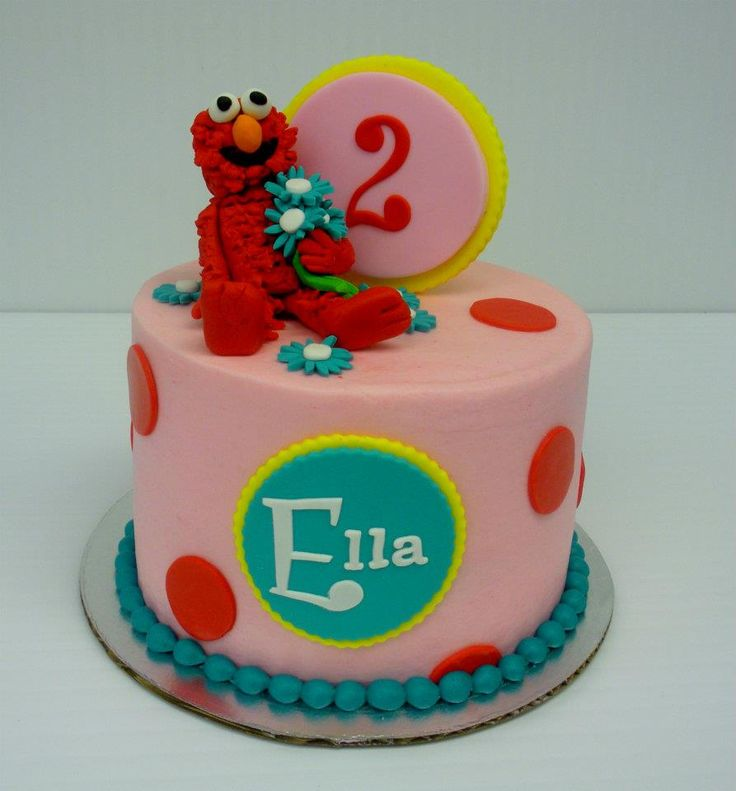 elmo girl birthday cakes
