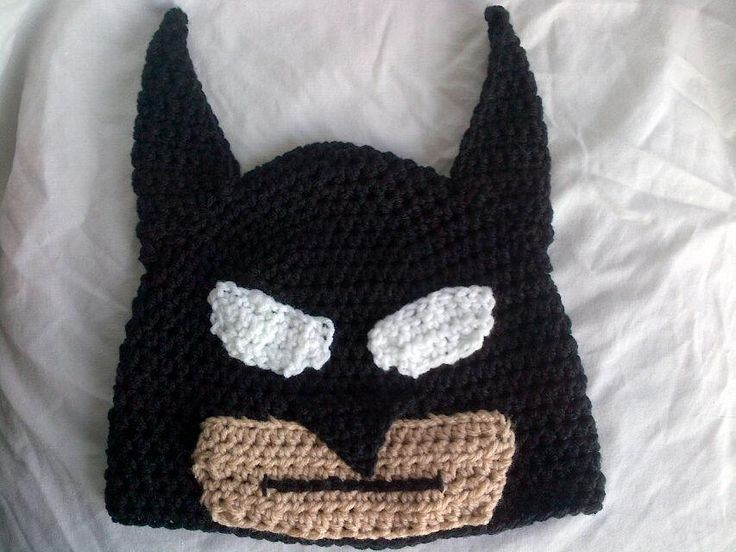 Free Crochet Pattern For Batman Hat : Pin by Nancy Phelps on Crochet for Super Heros, Pirates ...